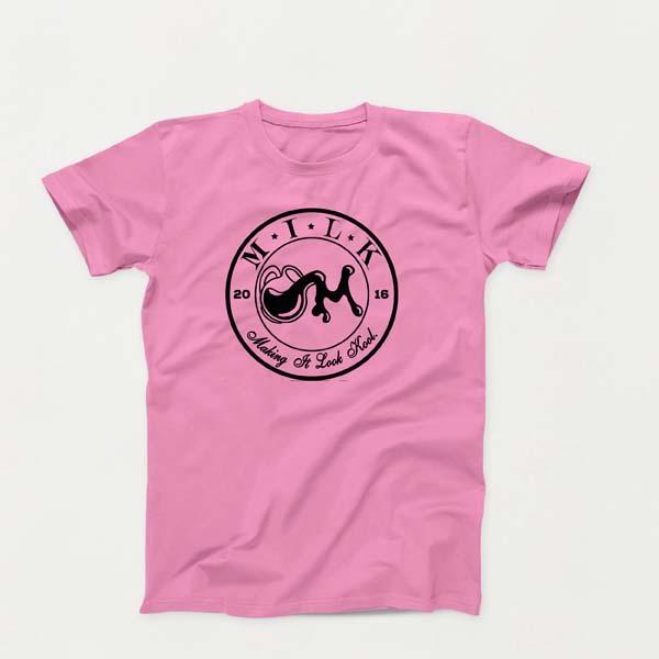 Crest B lg Pink shirt