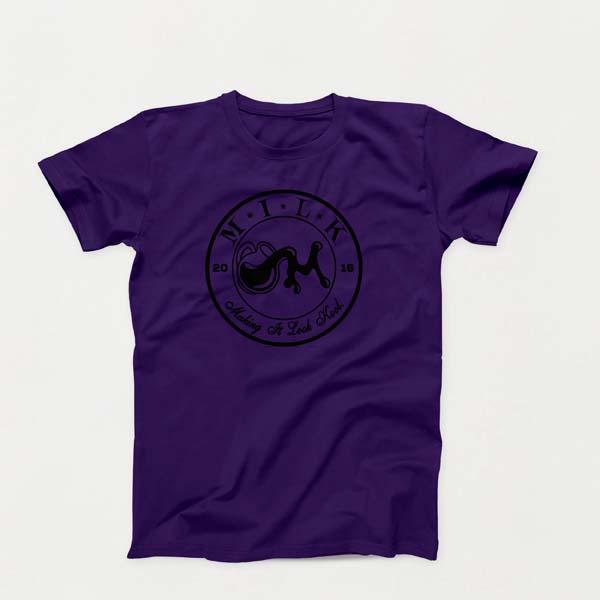 Crest B lg Purple shirt