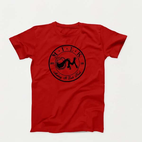 Crest B lg Red shirt